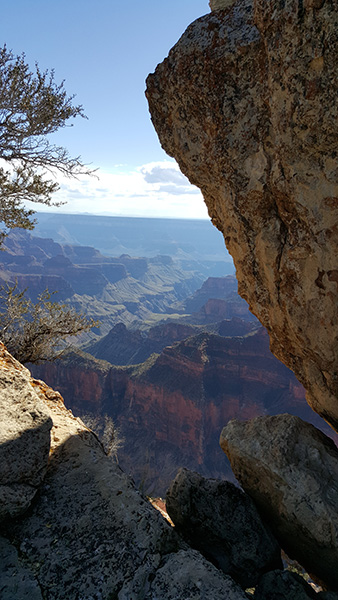 North Rim of the Grand Canyon; taken on Bright Angel Point trail