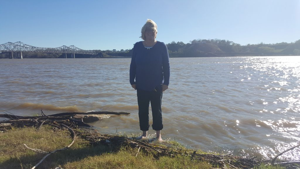 Standing in the Mississippi
