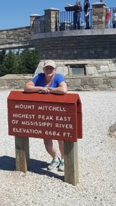 Marie on top of Mt. Mitchell